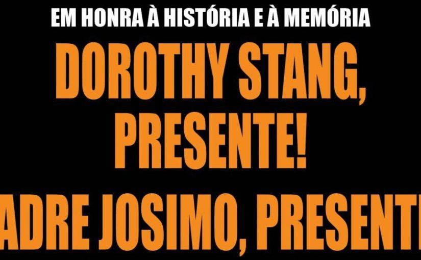 Movimentos sociais repudiam palestra depreciativa à memória dos religiosos Dorothy Stang e Josimo Tavares