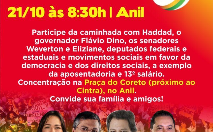 Rumo à vitória: Haddad em São Luís neste domingo