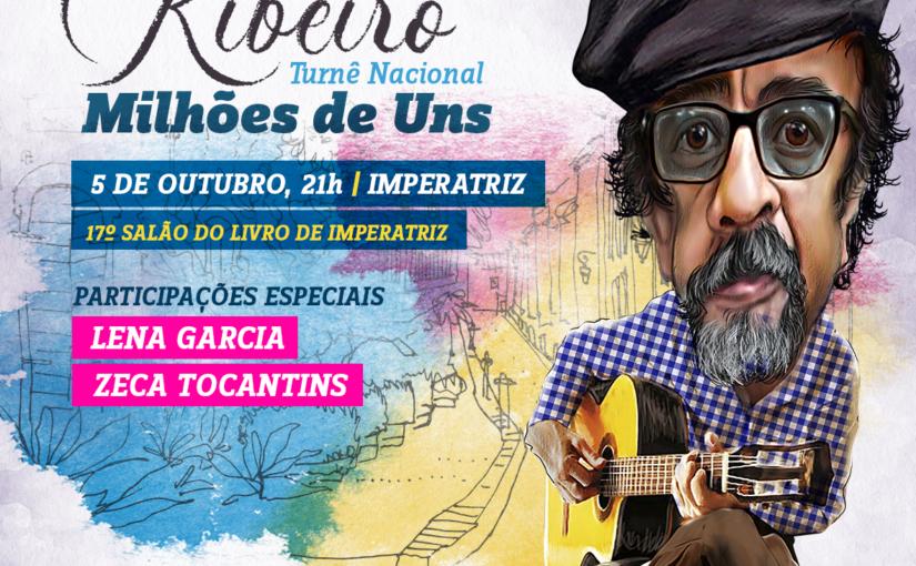 Joãozinho Ribeiro fecha turnê nacional no Salão do Livro de Imperatriz