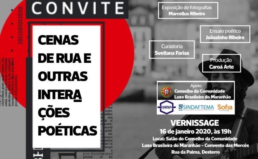 Marcellus Ribeiro e Joãozinho Ribeiro lançam exposição de fotografias e poemas em São Luís
