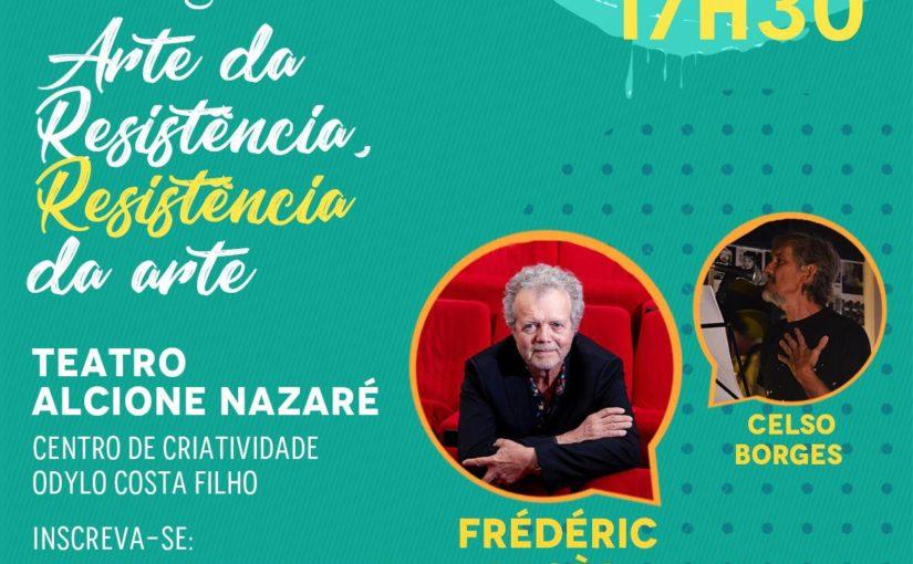 Diálogos Insurgentes: jornalista francês Frédéric Pagès e o poeta Celso Borges conversam sobre arte e resistência