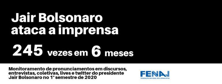 Bolsonaro promoveu 245 ofensas contra o Jornalismo no 1º semestre