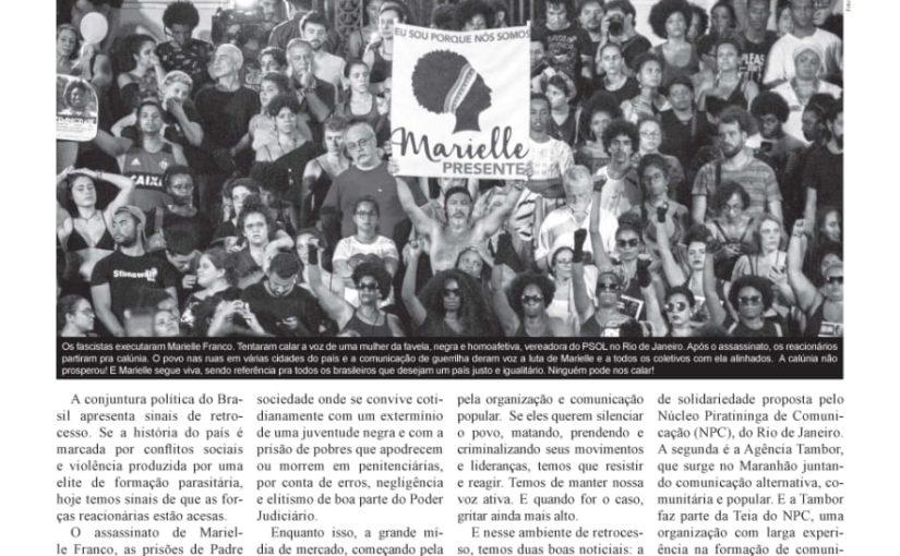 Nova edição do jornal Vias de Fato destaca a comunicação popular