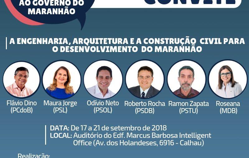 Candidatos ao Governo do Maranhão debatem engenharia, arquitetura e construção civil