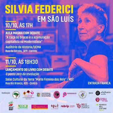 Escritora feminista Silvia Federici participa de debate e lança livro em São Luís