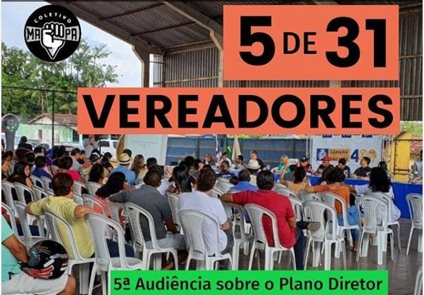 A maioria faltou! Veja quais vereadores de São Luís participaram das audiências públicas sobre o Plano Diretor