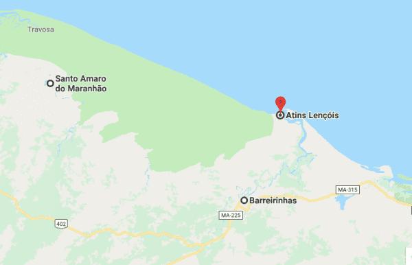 Milhares de peixes mortos encalham na praia de Santo Amaro, nos Lençóis Maranhenses
