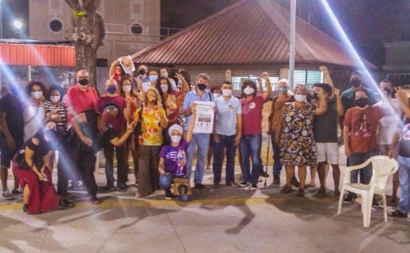 Apoiadores de Emílio Azevedo lançam campanha pelo voto livre e prestam homenagem a Paulo Freire