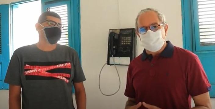 Antigo posto da Telma abriga emissora via cabo e rádio web em Primeira Cruz, nos Lençóis Maranhenses