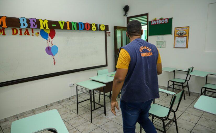 Vigilância Sanitária fiscaliza volta às aulas nas escolas particulares em São Luís