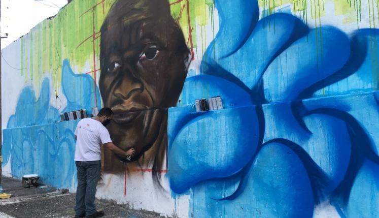 'Murais da Memória' celebram poetas, amos e cantadores de bumba-meu-boi no Maranhão