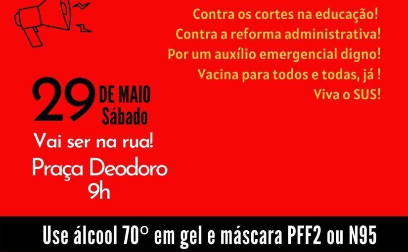 """São Luís terá atos """"Fora Bolsonaro"""" neste sábado"""