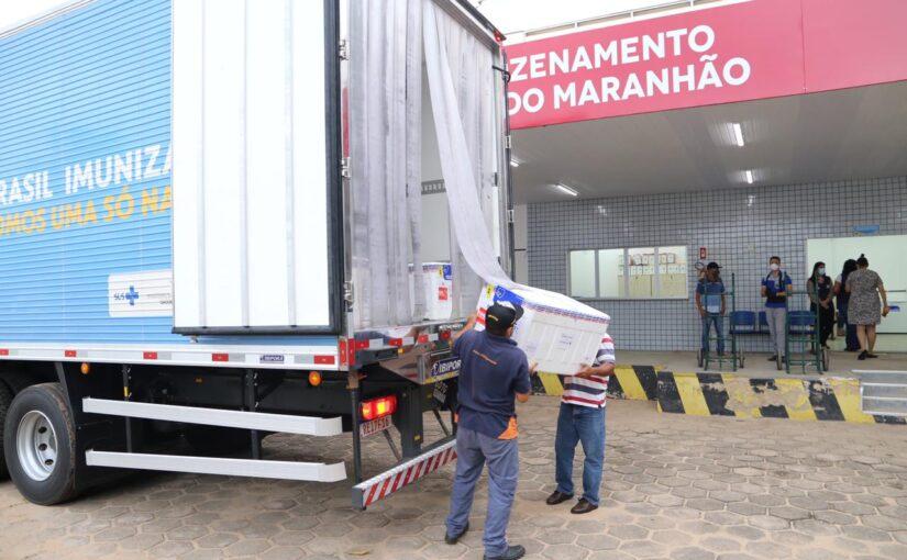 Maranhão recebe nova remessa de vacinas CoronaVac com mais de 28 mil doses