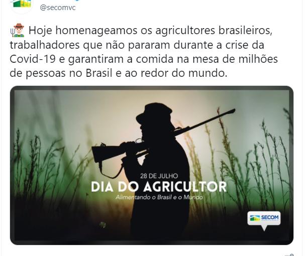Nota de repúdio à manifestação do governo federal pelo Dia do Agricultor