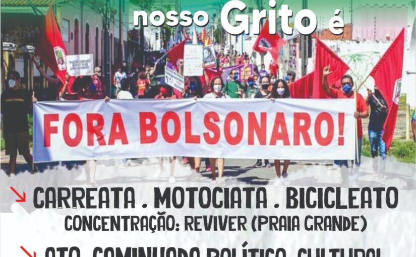 """7 de setembro: diversas mobilizações ecoam o grito """"Fora Bolsonaro"""""""