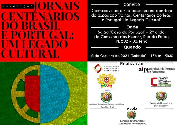 Mostra inédita em São Luís expõe capas de jornais do Brasil e de Portugal